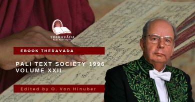 PALI TEXT SOCIETY 1996 VOLUME XXII - O. VON HINUBER