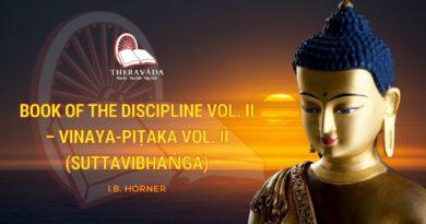 BOOK OF THE DISCIPLINE VOL. II - VINAYA-PIṬAKA VOL. II (SUTTAVIBHAṄGA) (ENG)